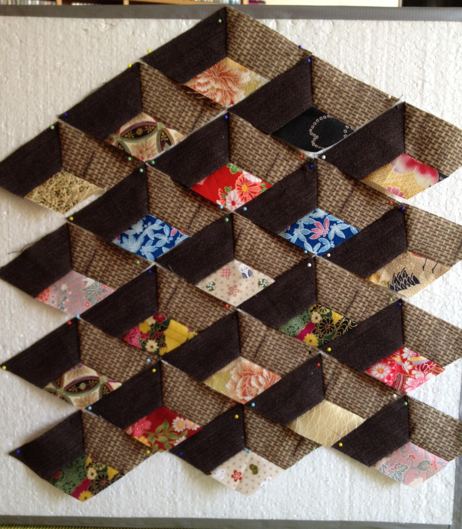 Eerste werkstuk op de featherweight real men stitch and sew for Quilt maken met naaimachine