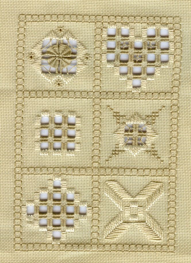 Hardanger proeflap | Real Men Stitch and Sew