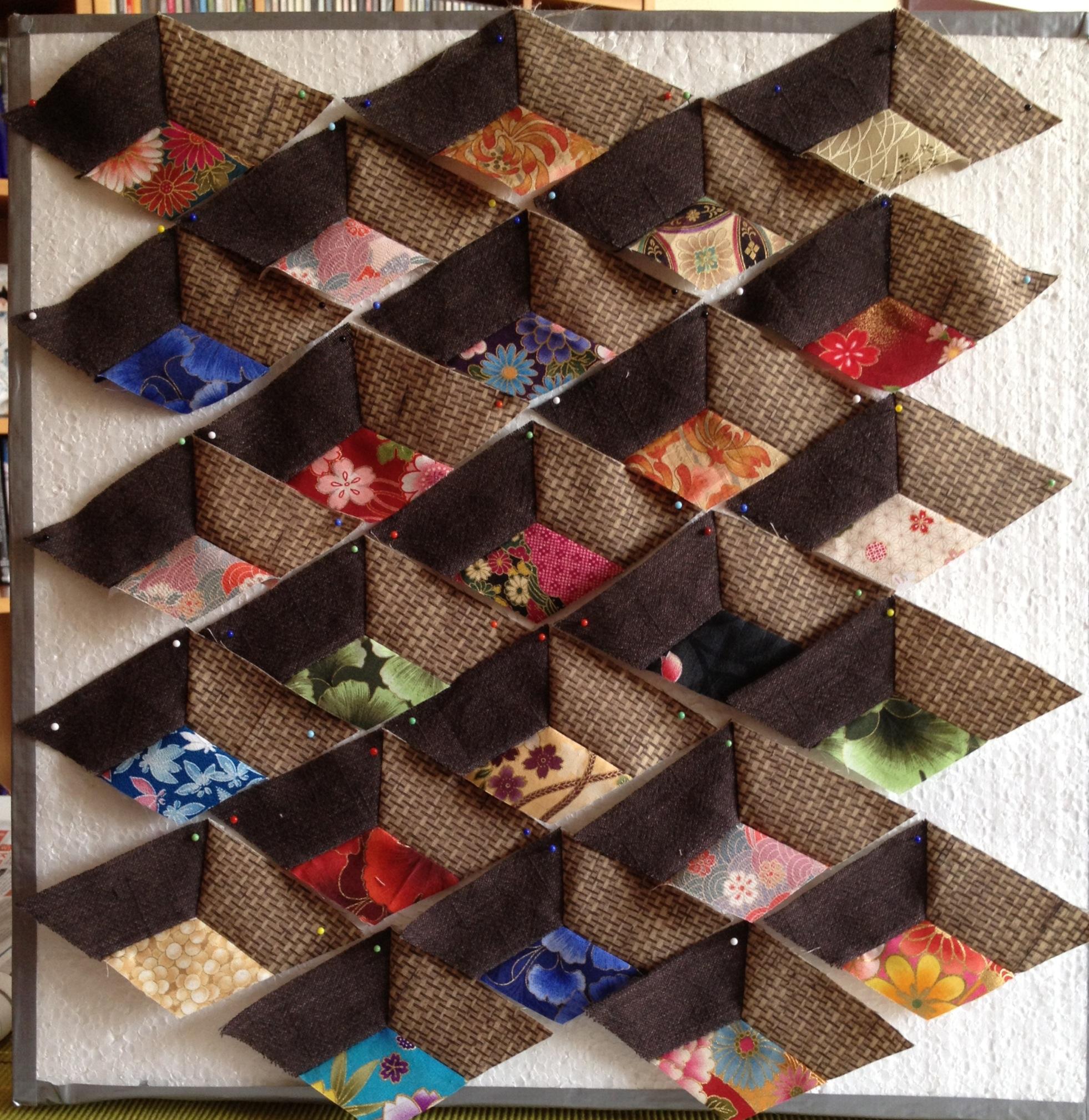 Klein mijlpaaltje bereikt met een oudje real men for Quilt maken met naaimachine