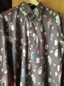 Shirt met uilenprint