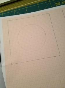 Blok met cirkel