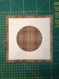 Freezerpaper op achterkant stof