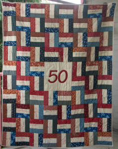 50 jarig jubileum quilt