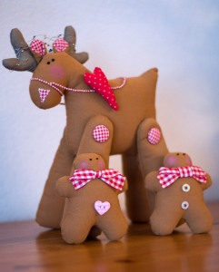 Rendier en gingerbread poppetjes