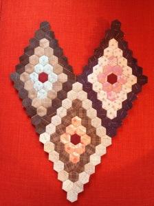 Hexagonnen met Japanse stoffen
