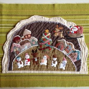 Kerstquiltje Reiko Kato