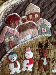 Detail Kerstquiltje